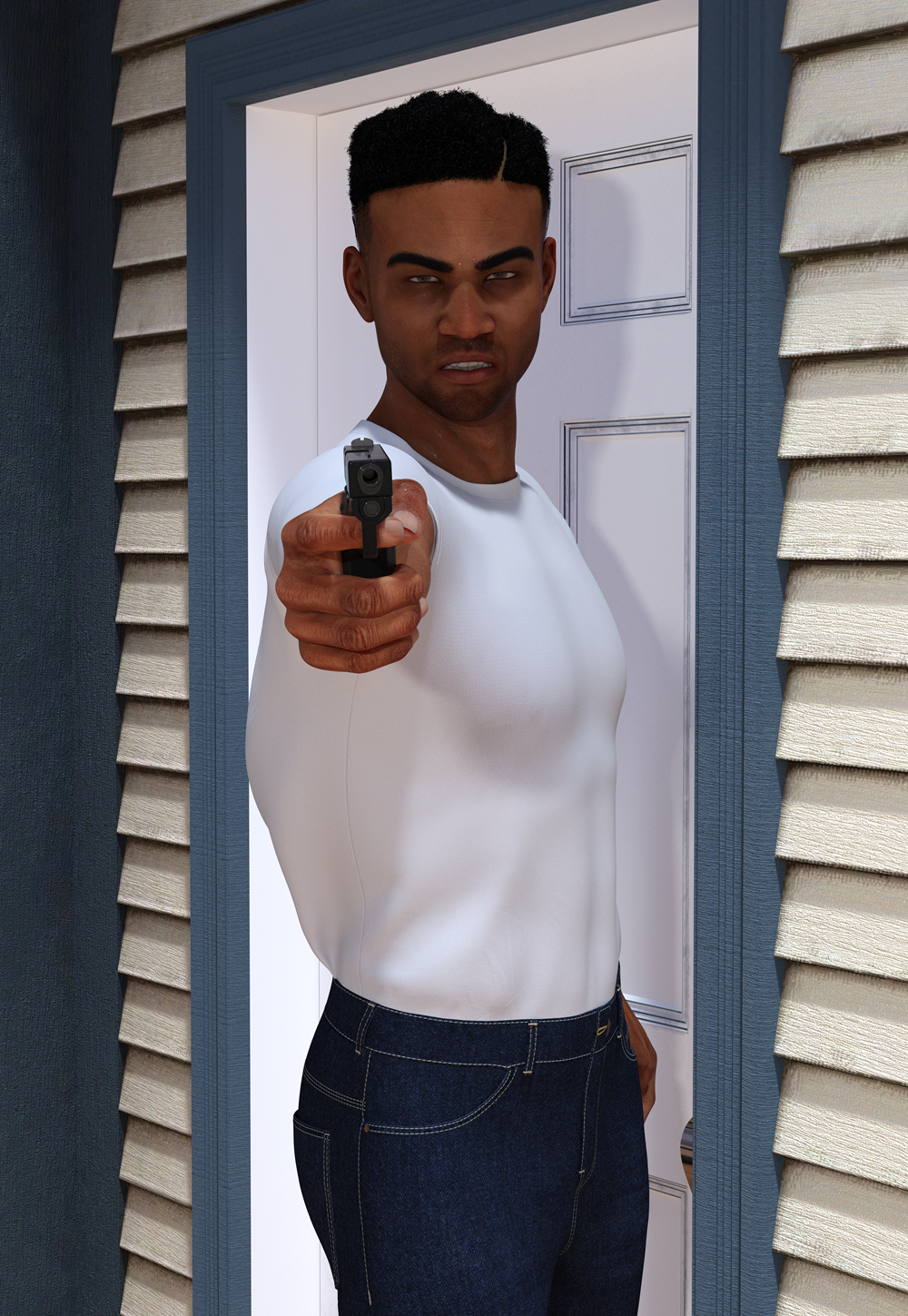 Young Black Male Shooter Target