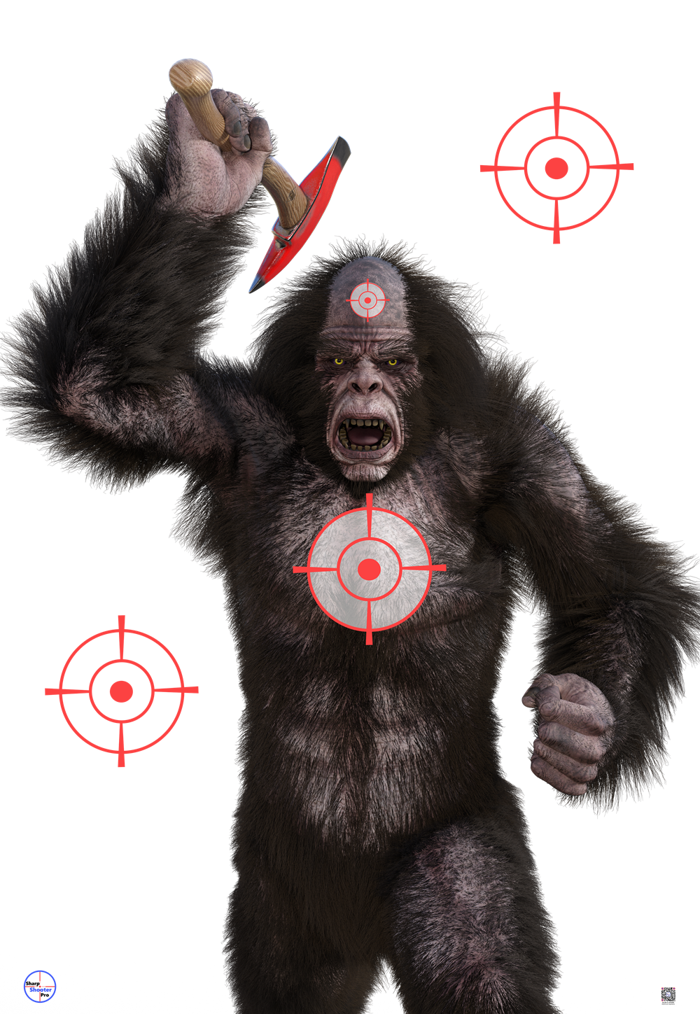 Sasquatch with Axe Target